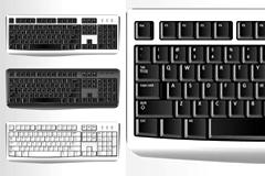 计算机键盘矢量素材