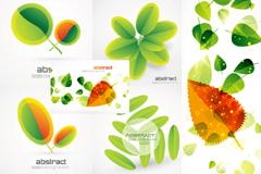 创意绿叶背景矢量素材