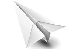 白色纸飞机PSD素材