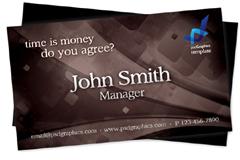 时尚棕色商务卡片PSD模板