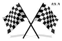黑白方格小旗PSD素材