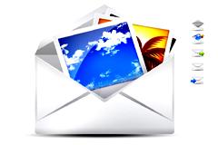 信封和邮件PSD素材