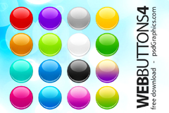 WEB风格水晶按钮PSD素材