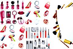 各种化妆品图标矢量素材