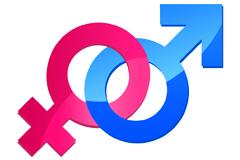 男性和女性PSD标志