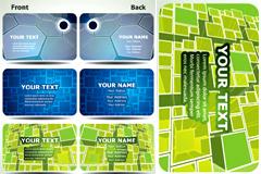 立体图形卡片模板矢量素材