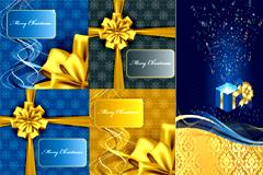 圣诞礼物和贺卡矢量素材