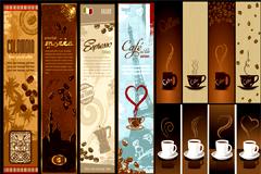 咖啡主题banner矢量素材
