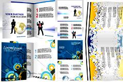 商务风格宣传册模板矢量素材