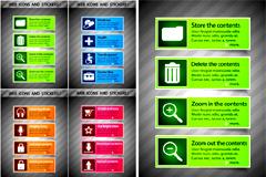 网页设计图标和贴纸矢量素材