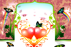 蝶之恋背景矢量素材