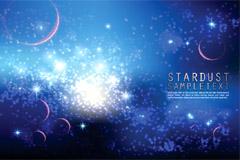星光璀璨太空背景矢量素材