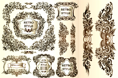 经典欧式装饰纹样矢量素材