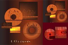 2套时尚CD封面设计矢量素材