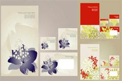 简约时尚花卉VI模板矢量素材