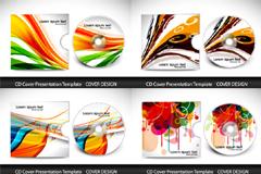 缤纷时尚CD包装矢量素材