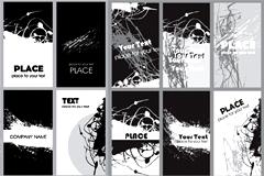 黑白潮流卡片矢量素材