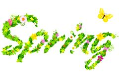spring艺术字矢量素材