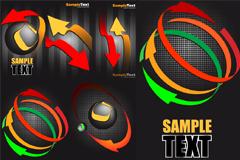 箭头抽象图案设计矢量素材