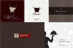 西式菜单封面设计矢量素材
