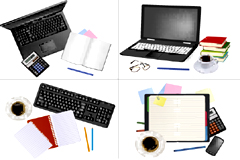 办公用品桌面矢量素材