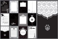 时尚黑白明信片模板矢量素材