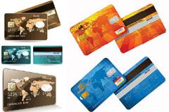 银行信用卡模板矢量素材