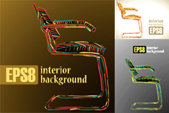 创意线条座椅矢量素材