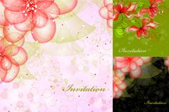 梦幻手绘花卉纹样背景矢量素材