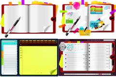 文具学习用品矢量素材