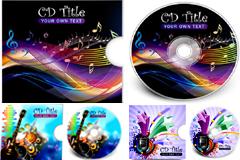 炫目潮流CD包装设计矢量素材