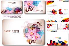 炫彩花纹卡片模板矢量素材