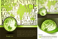 立体地球背景矢量素材