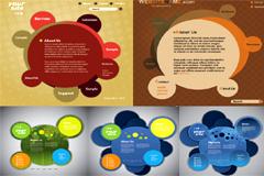 个性圆形网页设计模板矢量素材