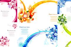 时尚花卉海报模板矢量素材