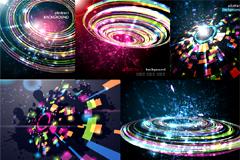 三维炫彩宇宙背景矢量图素材