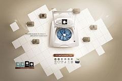 GE洗衣机网站设计欣赏