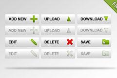6款免费PSD按钮素材下载