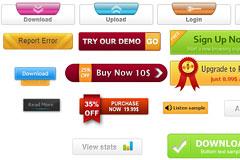 16种网页常用按钮素材