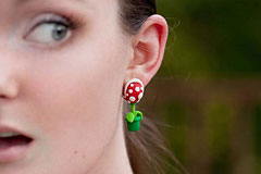 拉风的超级玛丽耳环
