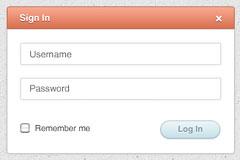 简洁的网页登录框PSD素材