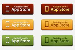 App Store按钮PSD素材下载