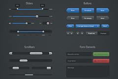 滑块、按钮、滚动条和表单网页UI