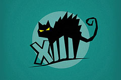 20款彩色底色猫科动物标志设计欣