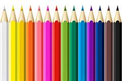 14色彩色铅笔PSD图片