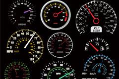 9款汽车仪表盘矢量素材
