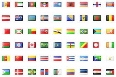 247个国家的国旗图标