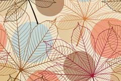 手绘枫叶背景矢量素材
