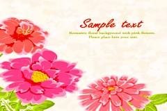 水彩花卉淡雅矢量素材