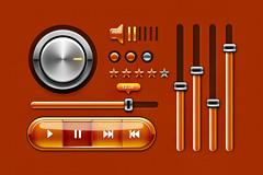 音乐播放器界面PSD素材